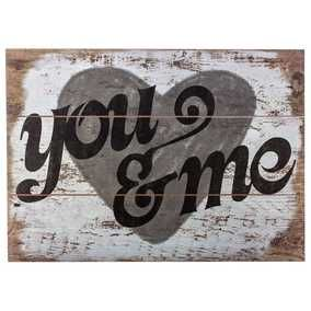 You & Me Wood Wall Sign