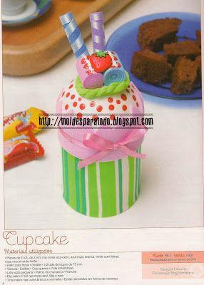 Moldes para Todo: * Cupcake Rosa *