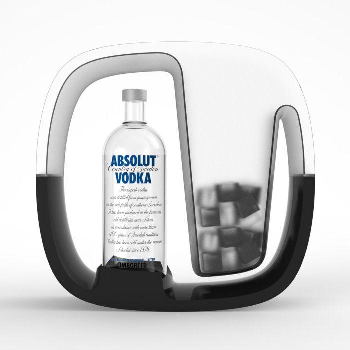 Porsche Design Kitchen Appliances: Serving Set Concepts For Absolut Vodka By Martin