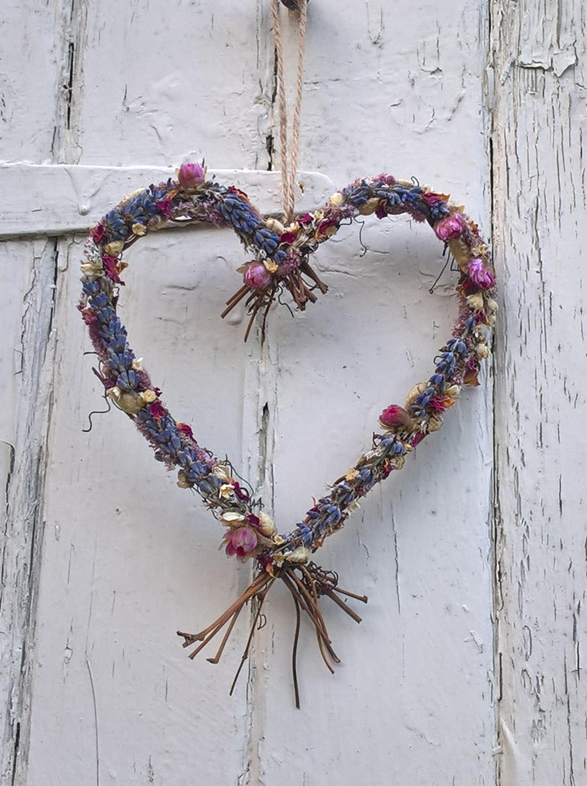 Dried Flower Heart Wreath Vine Wreath Wedding Decoration Rustic