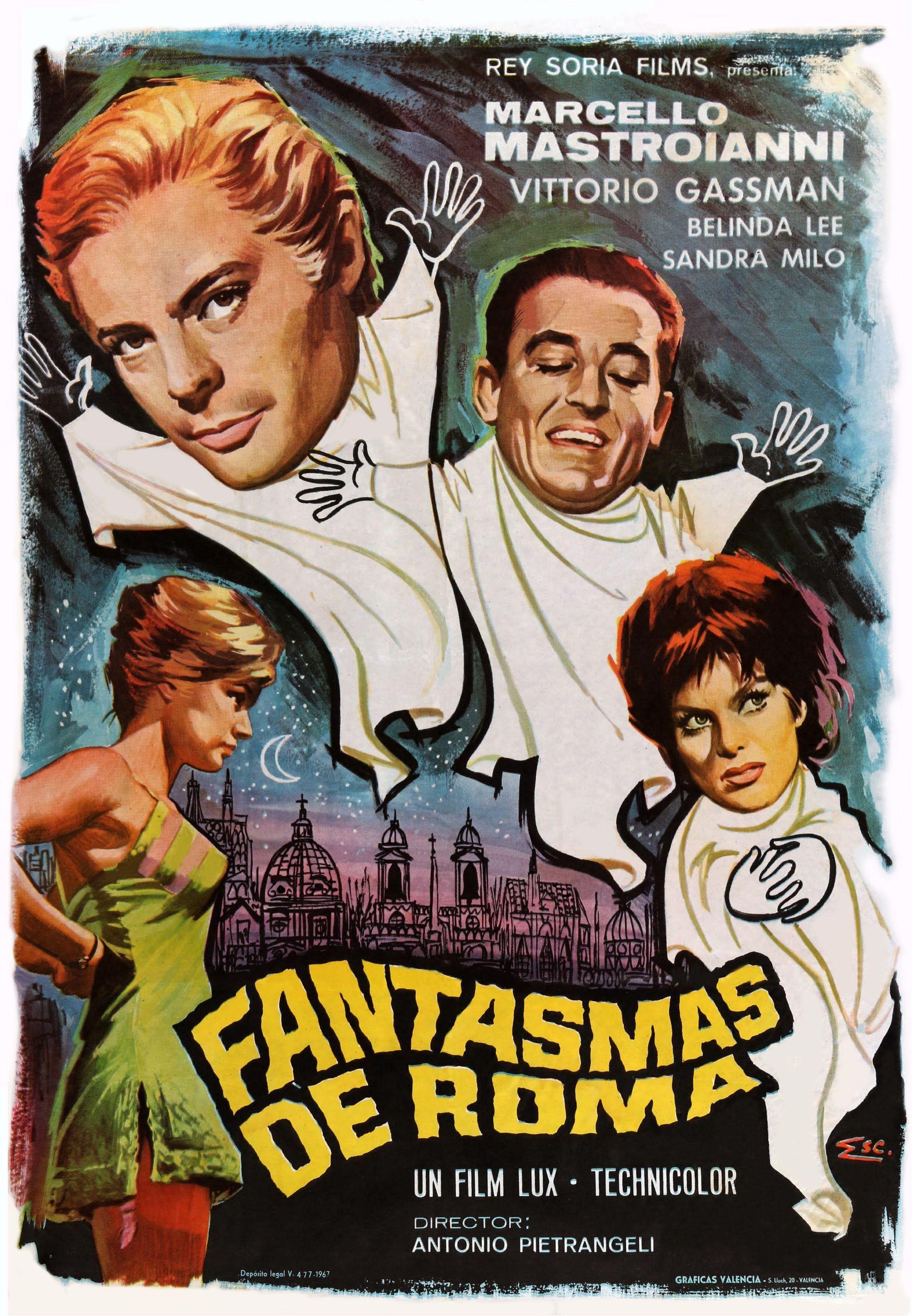 Fantasmas De Roma Fantasmas Carteles De Cine Cine Italiano