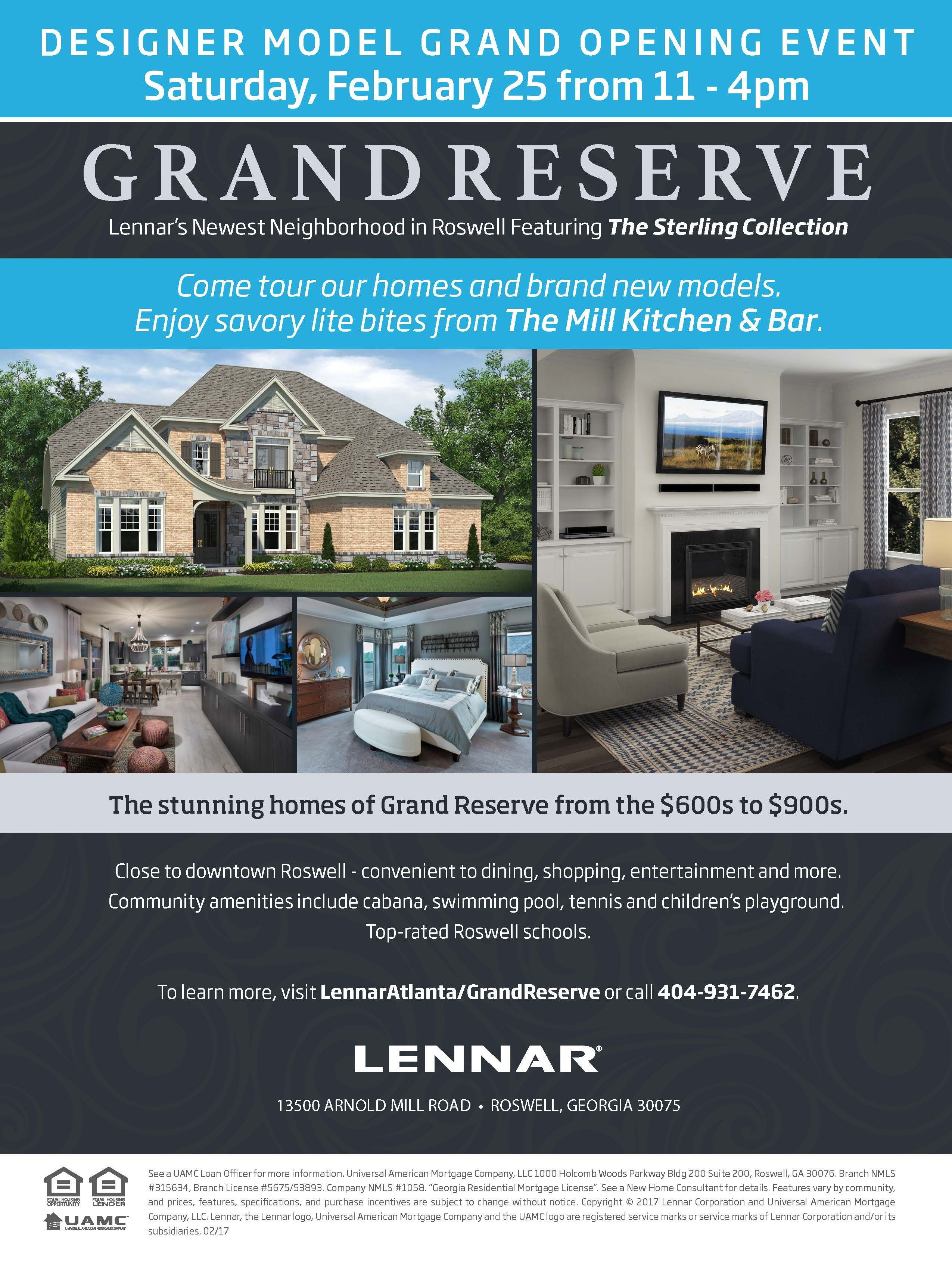 Please Join Us You Re Invited To Come To Our Model Grand Opening Event At Grand Reserve Tomorrow February 25 From 11 Lennar Grand Opening New Homes For Sale