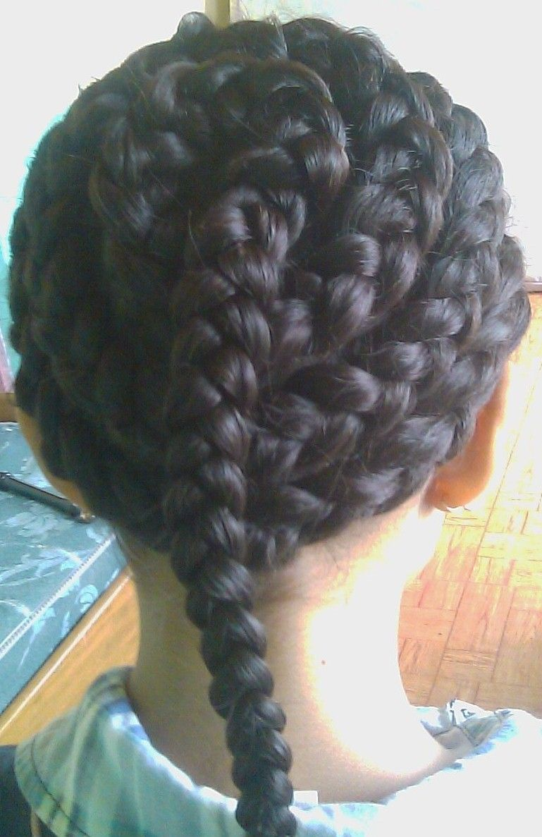 This hair style is a little bit intenset too long to make and