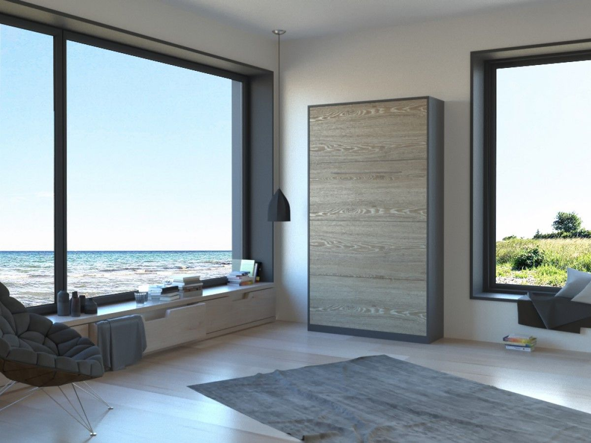 Schrankbett 90cm Vertikal Anthrazit/Eiche Sonoma SMARTBett | Ideen ...