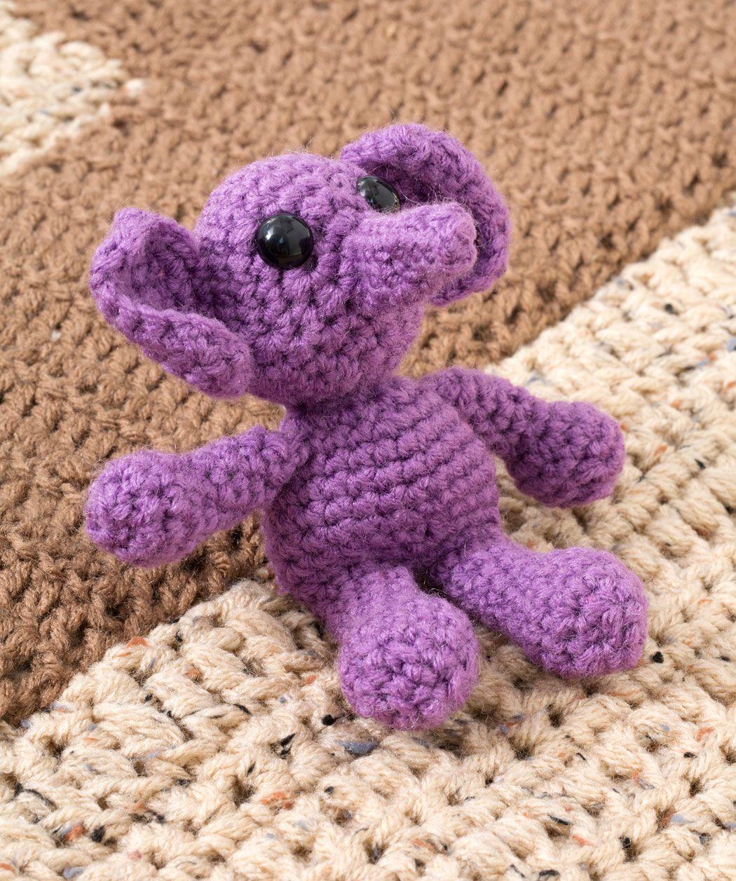 Elenora Elephant Crochet Pattern | Red Heart | ♥ Amigurumi ...