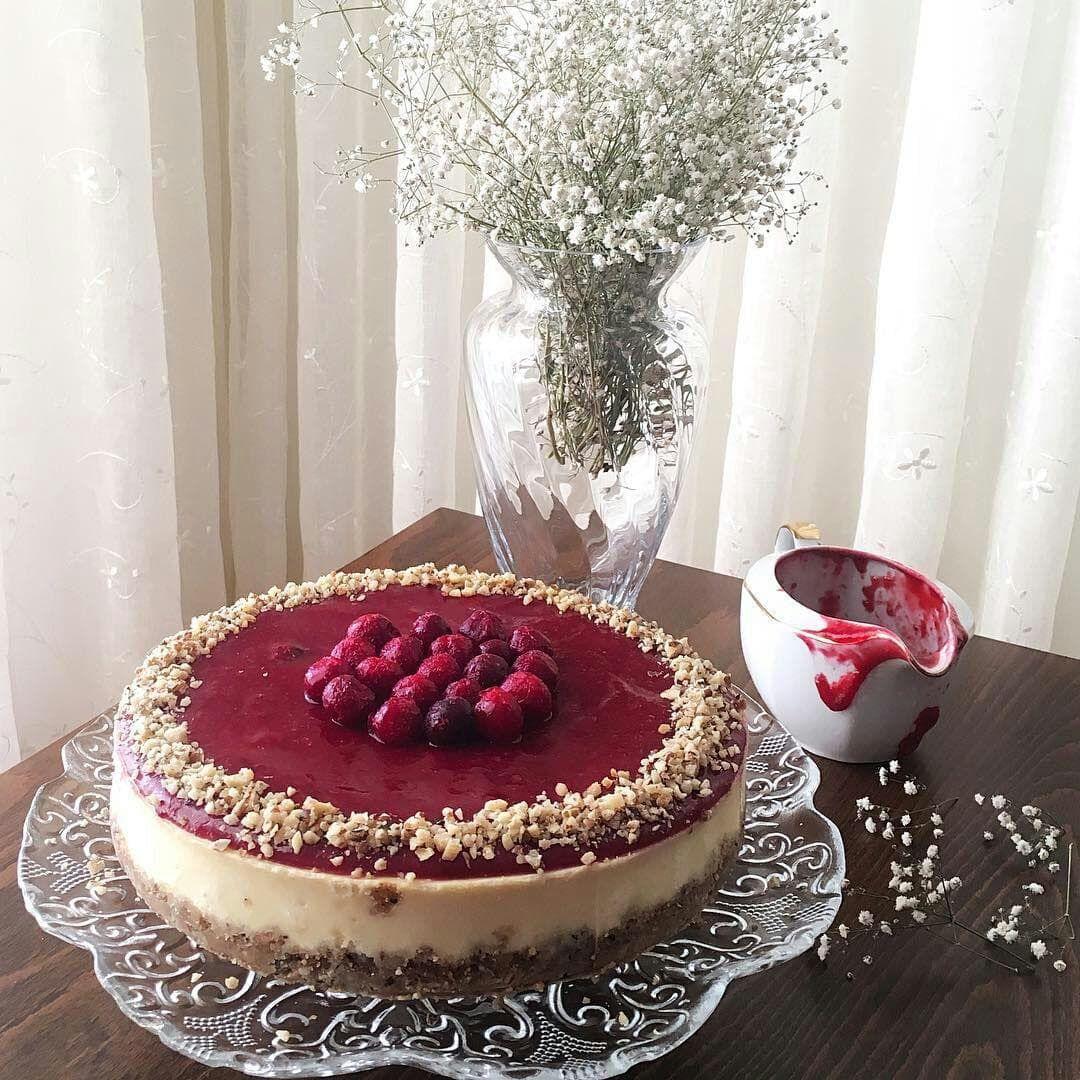 چیزکیک با سس آلبالو Recipe Cherry sauce, Cheesecake, Food