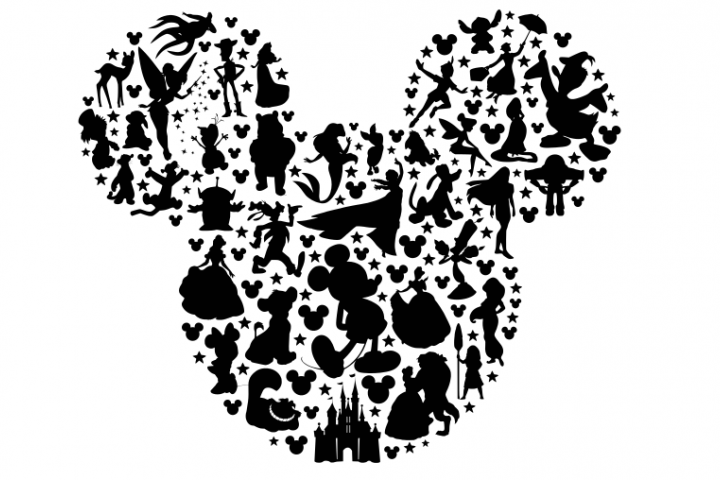 disney character silhouette mickey head