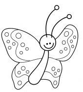 Natur Kostenlose Malvorlage Lustiger Kleiner Schmetterling Zum