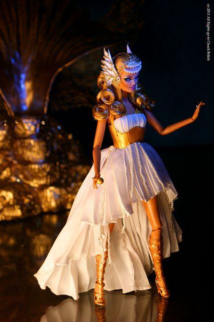 Aphrodite Barbie Doll | Kylie Minogue Aphrodite Les Folies Barbie doll OOAK by Chuck Belich