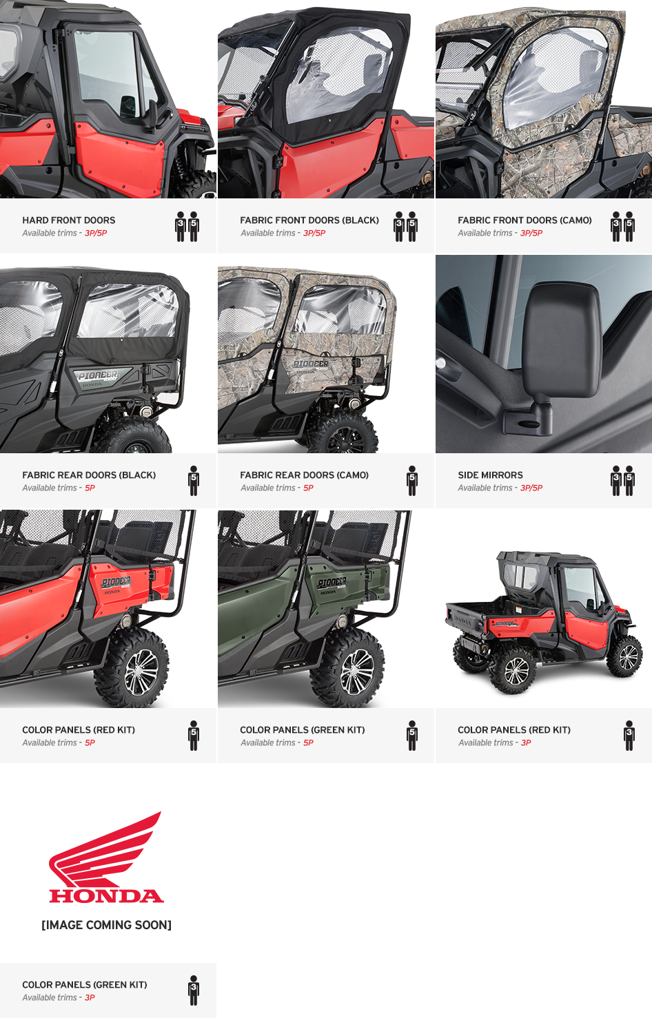 2016 Honda Pioneer 1000 Optional Doors U0026 Accessories   Honda Pioneer Forum