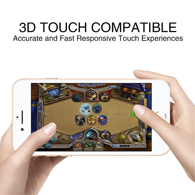 Goroning 2 pack iphone 8 plus7 plus 3d screen protector