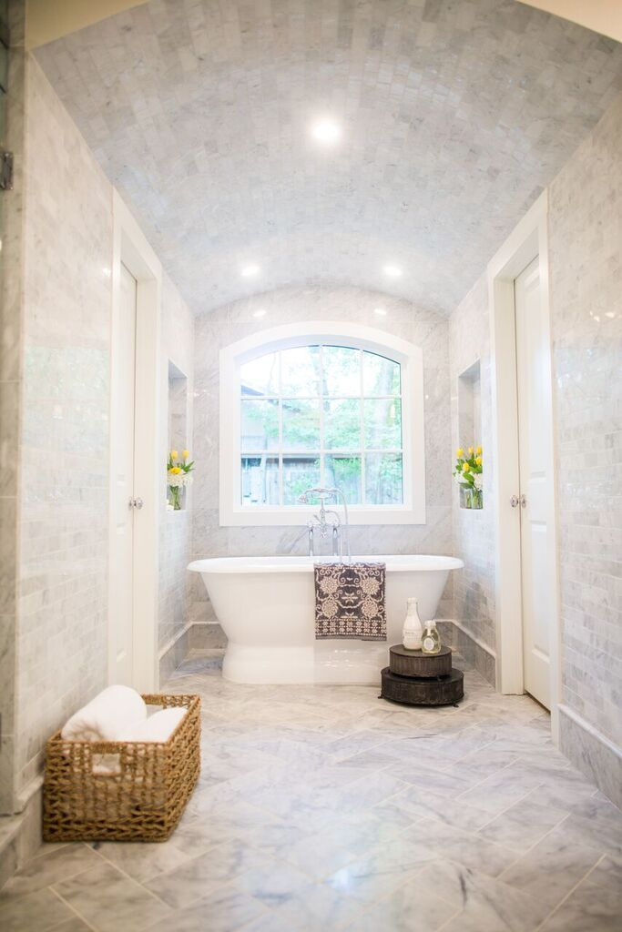 Marble Bathroom By Chip And Joanna Gaines