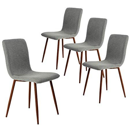 Surprising Coavas Kitchen Dining Chairs Set Of 4 Fabric Cushion Side Short Links Chair Design For Home Short Linksinfo