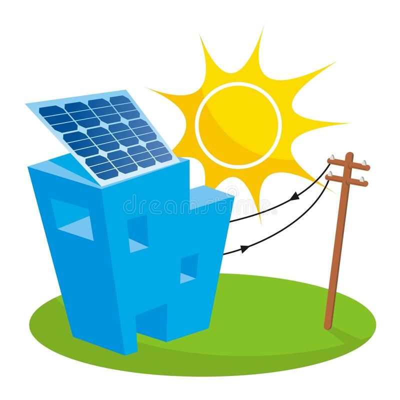 Solar House Solar Panel On House Roof Connected To Electricity Pole Affiliate Panel House Solar Roof Pole Ad Solar House Solar House Roof