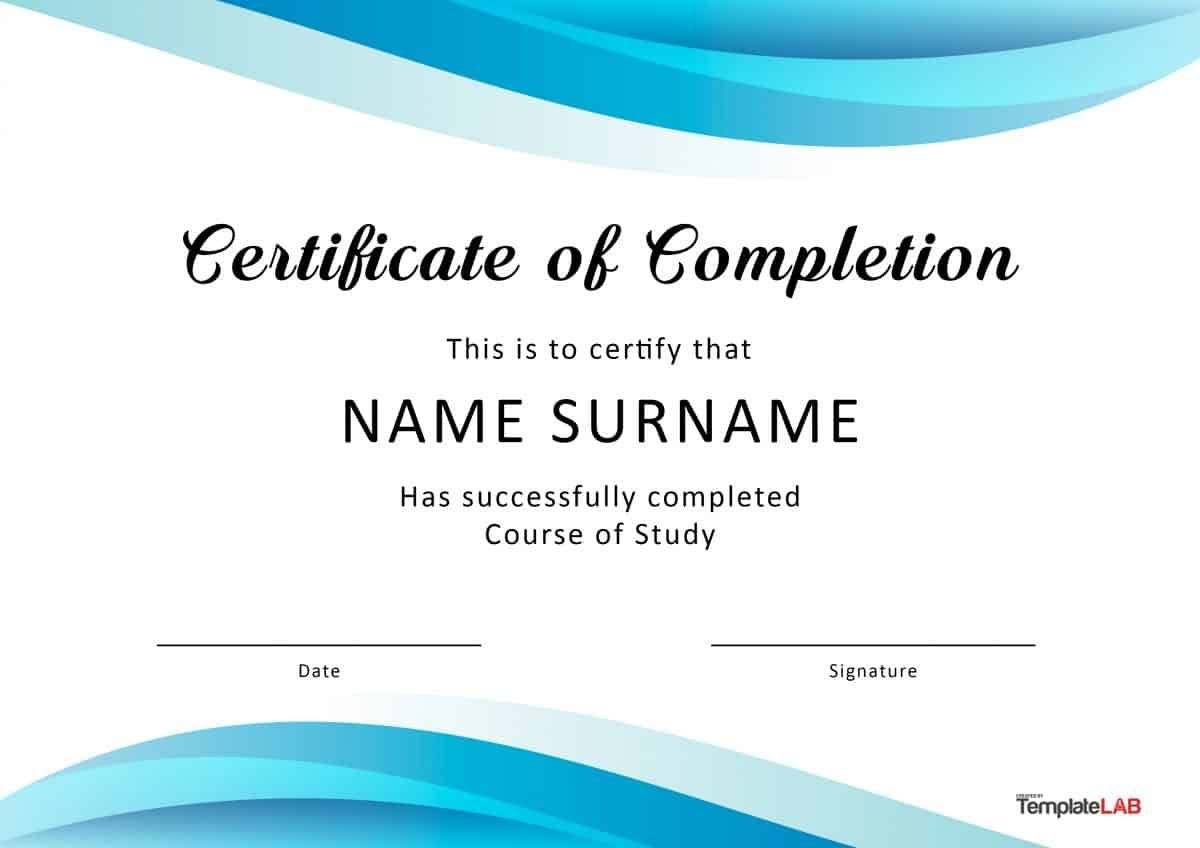 Certificate Editable Word Template Printable Instant Download You Edit Word Templa Certificate Of Completion Template Word Template Certificate Of Completion