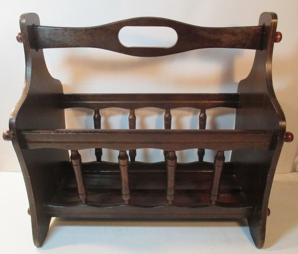bler kristiansen wooden oak sika rack m magazine by vintage for kai mobler