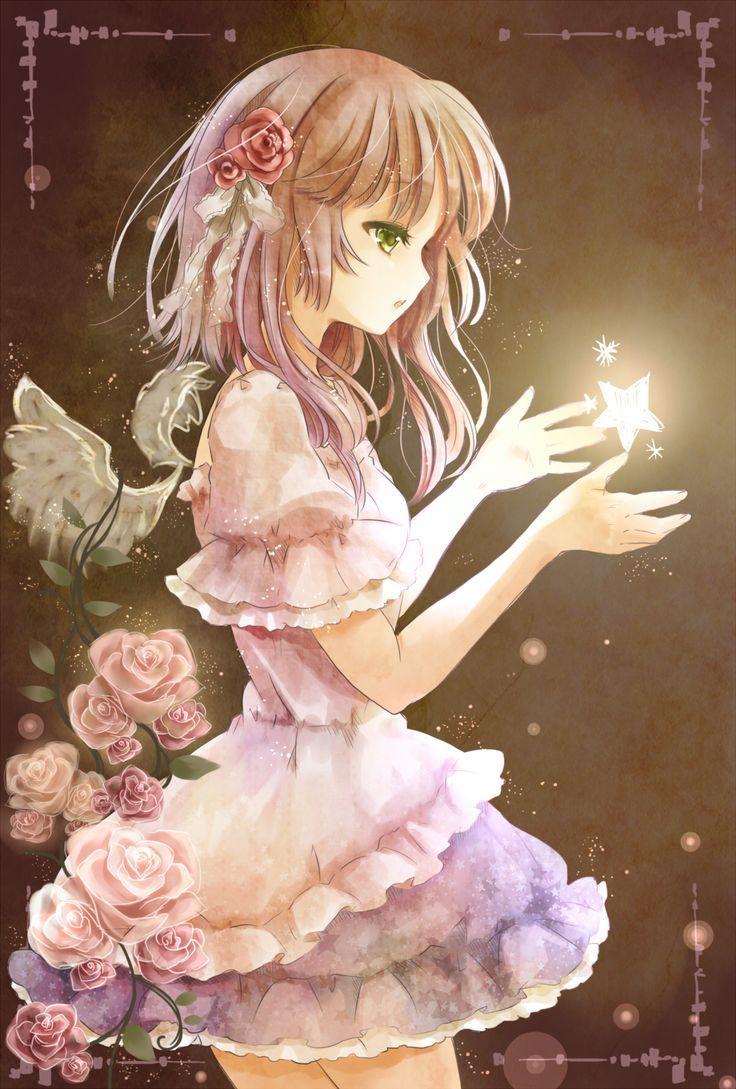Garota Anime Fada-Magia-Fofa ♥   Anime, Anime meninas, Arte anime