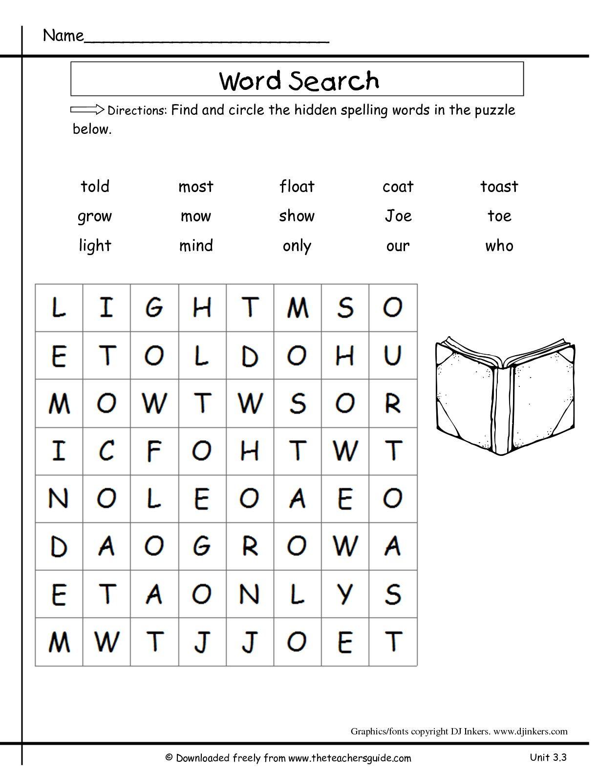 medium resolution of unitthreeweekthreespellingsearchttg-001-001.jpg (1224×1584)   Grade spelling