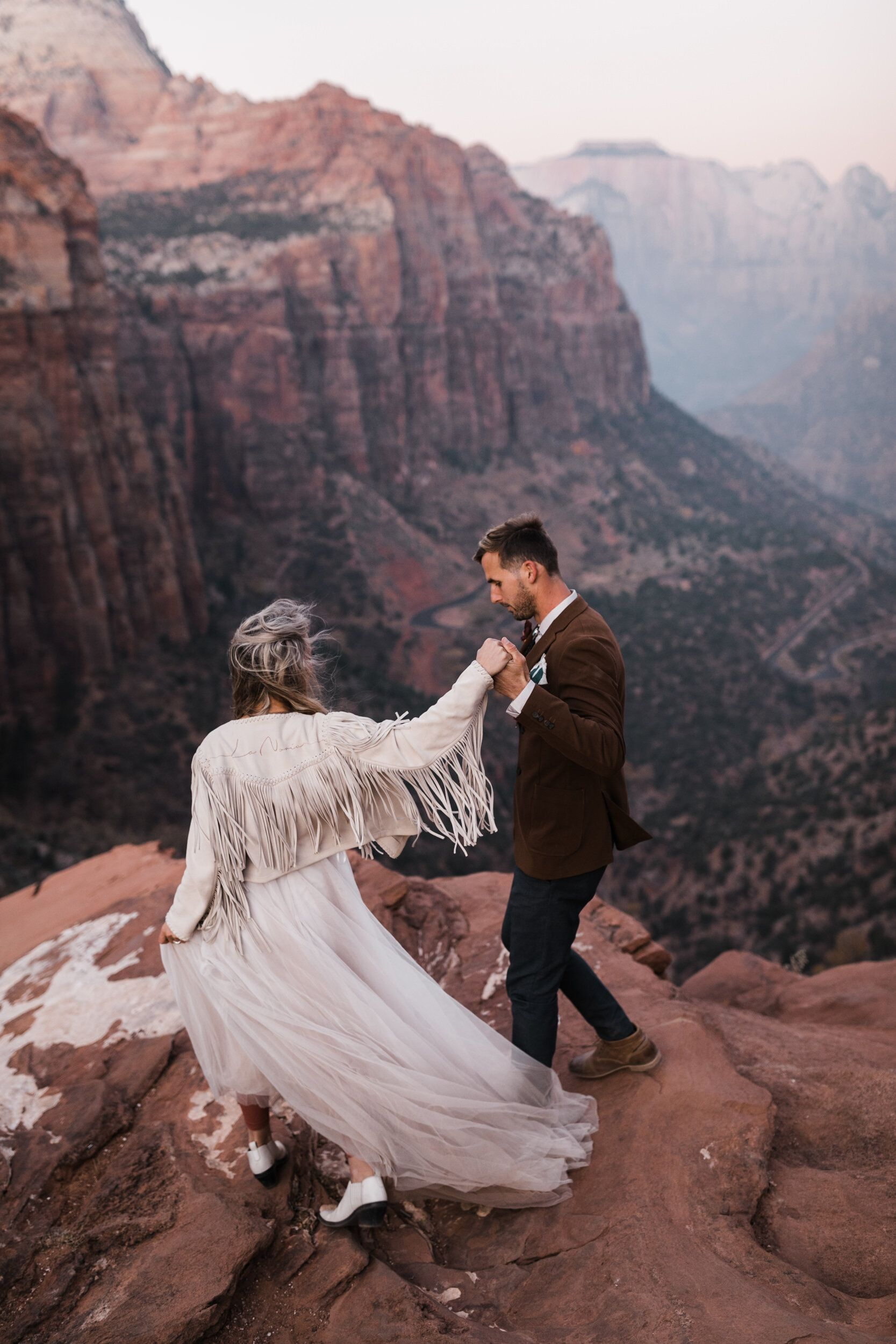Zion National Park Wedding Under Canvas Zion And Lazalu Adventure Wedding Elopement Photographers In Moab Yosemite And Beyond The Hearnes In 2020 National Park Wedding Zion National Park Park Weddings