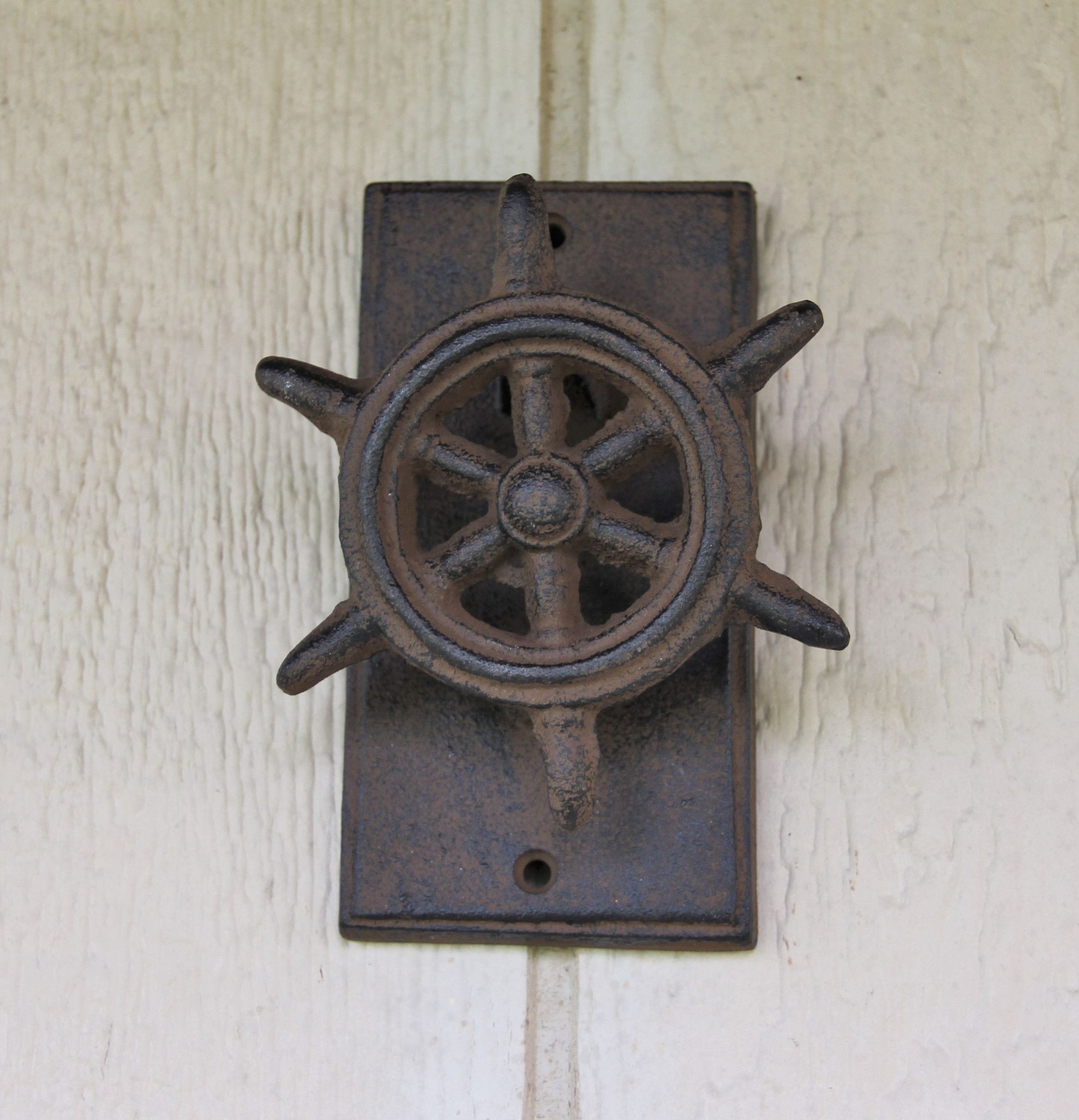Cast iron ship wheel door knocker ship wheel cast iron and doors
