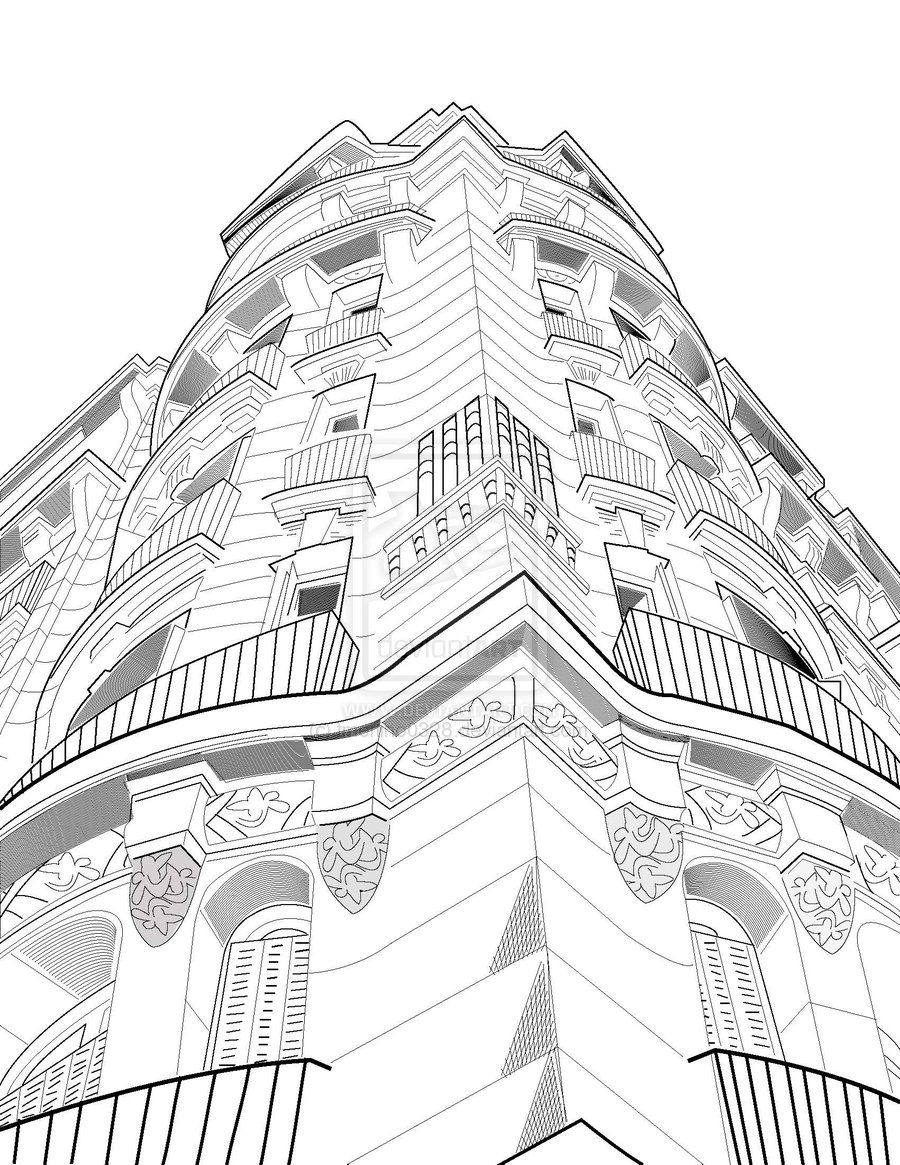 Learn how to draw a building in 3 point perspective in
