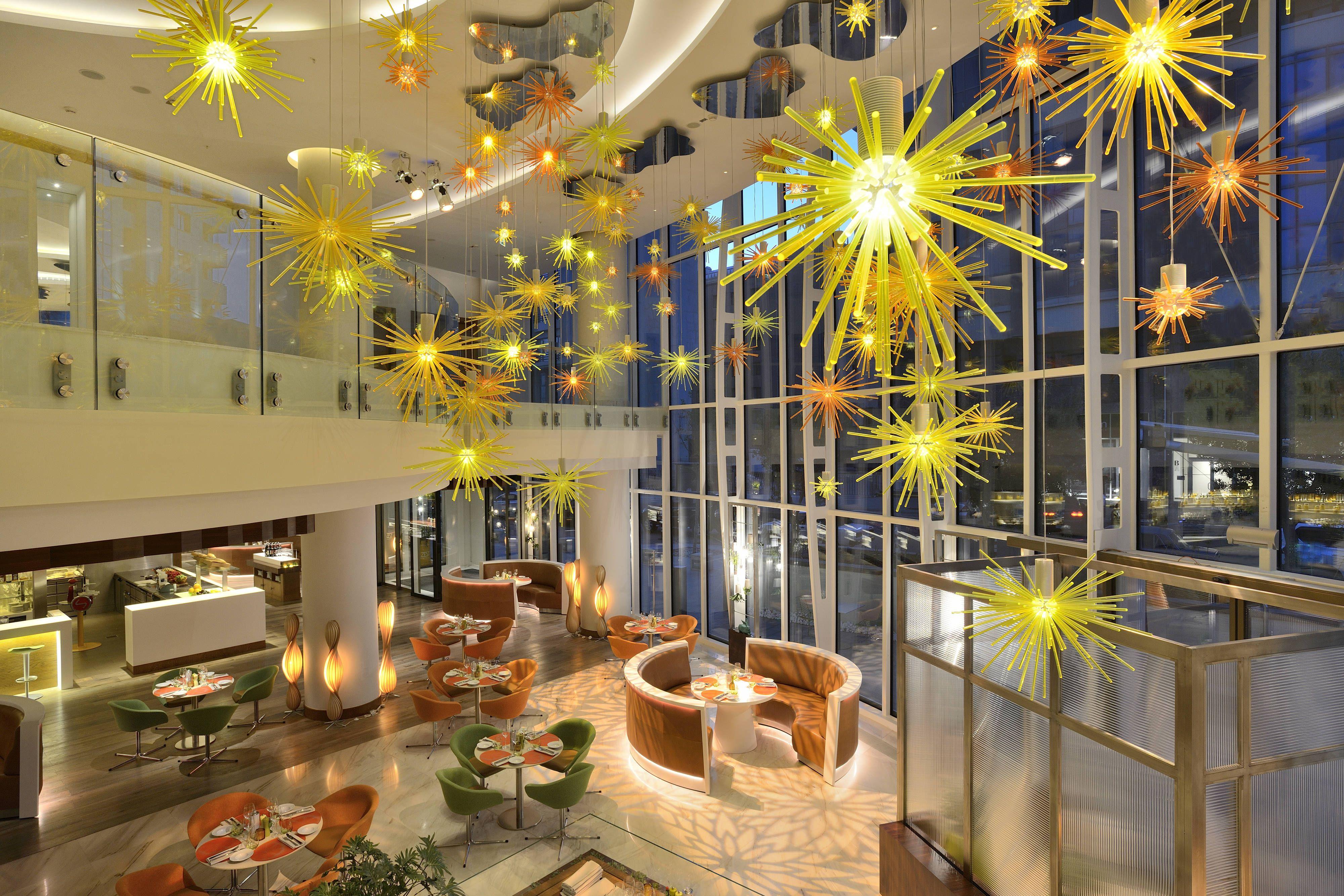 Jw Marriott Absheron Baku Zest Lifestyle Cafe Dining Area Guestroom Traveling Enjoy Colorful Interiors Dark Interiors Boutique Design