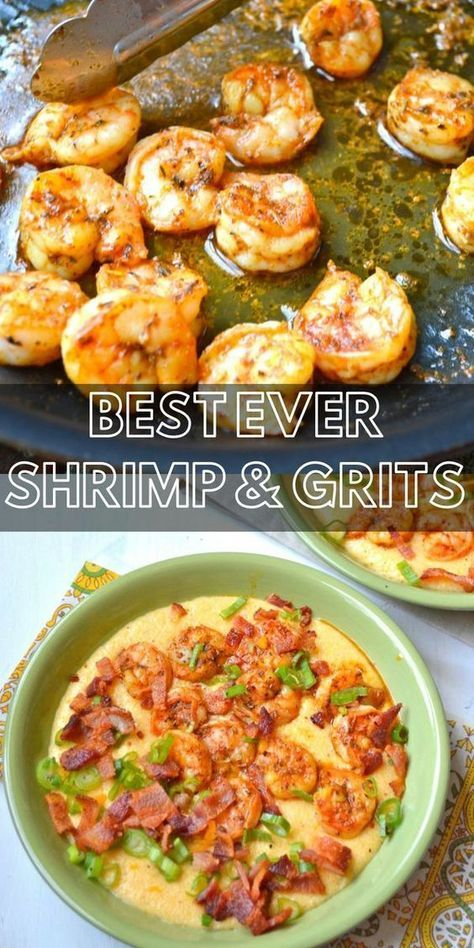 Shrimp and Creamy Cheesy Grits + VIDEO - Maebells