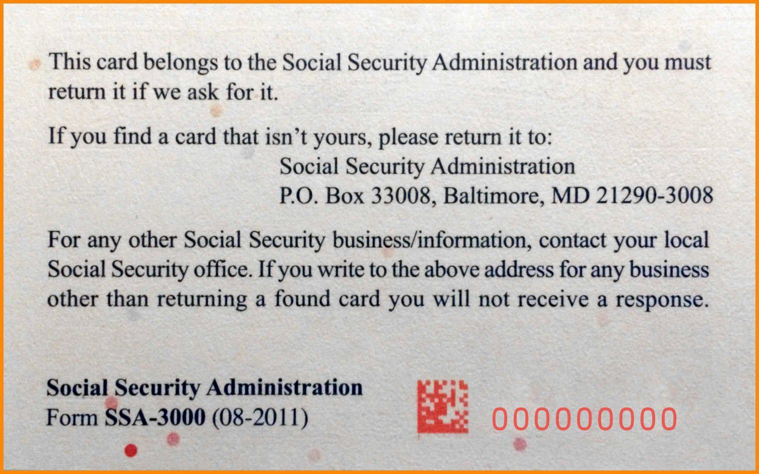 Local Social Security Office Phone Number For Blank Social Security Card Template