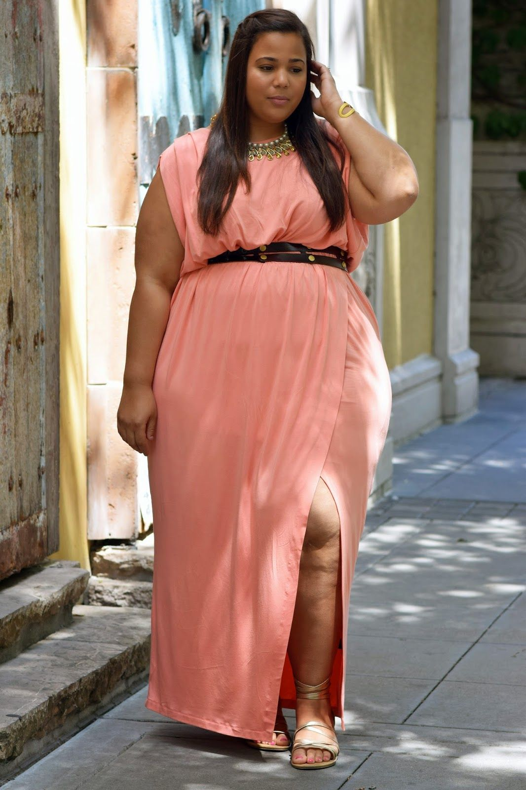 Grecian style dresses for plus size