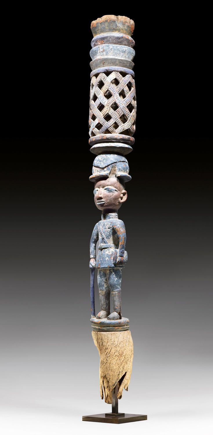 Africa Palace post from the Yoruba people of Benin ca early to