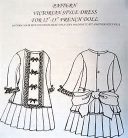 Image result for doll victorian dress patterns #dollvictoriandressstyles