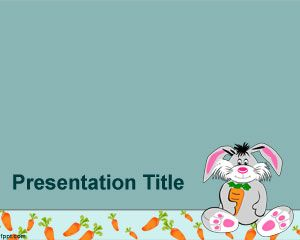 Rabbit Powerpoint Template Is A Free Kids Ppt Template Design For
