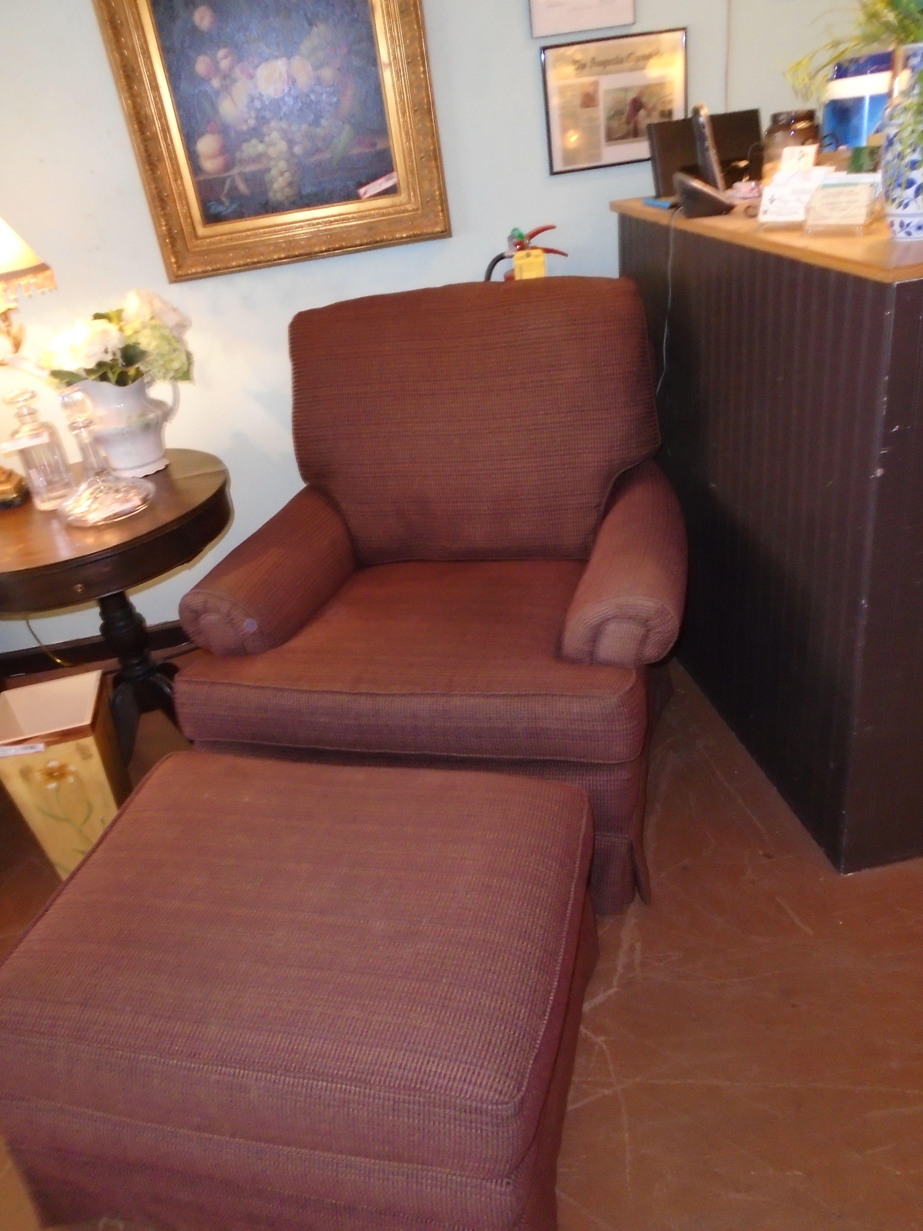 Woodmark Chair And Ottoman