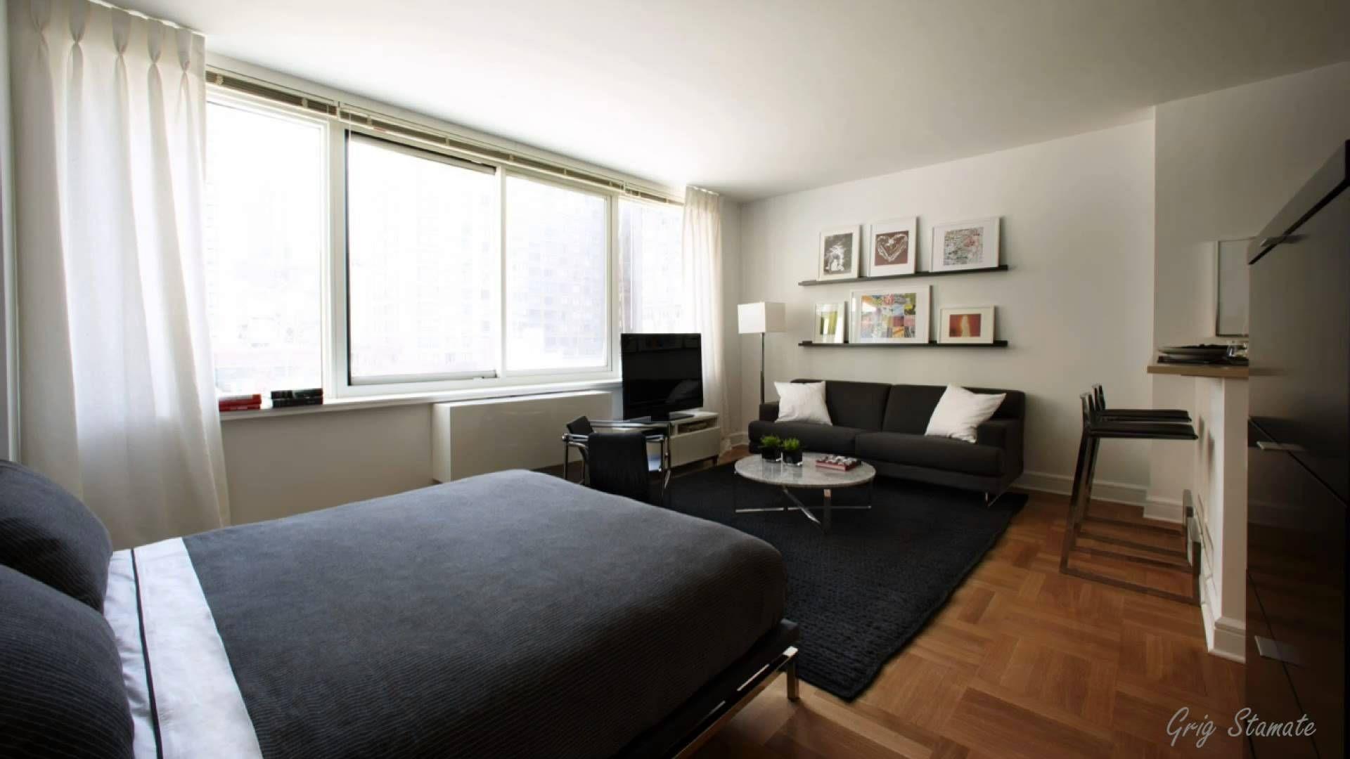 Apartment One Room Decorating Small Studio Basement Living ...