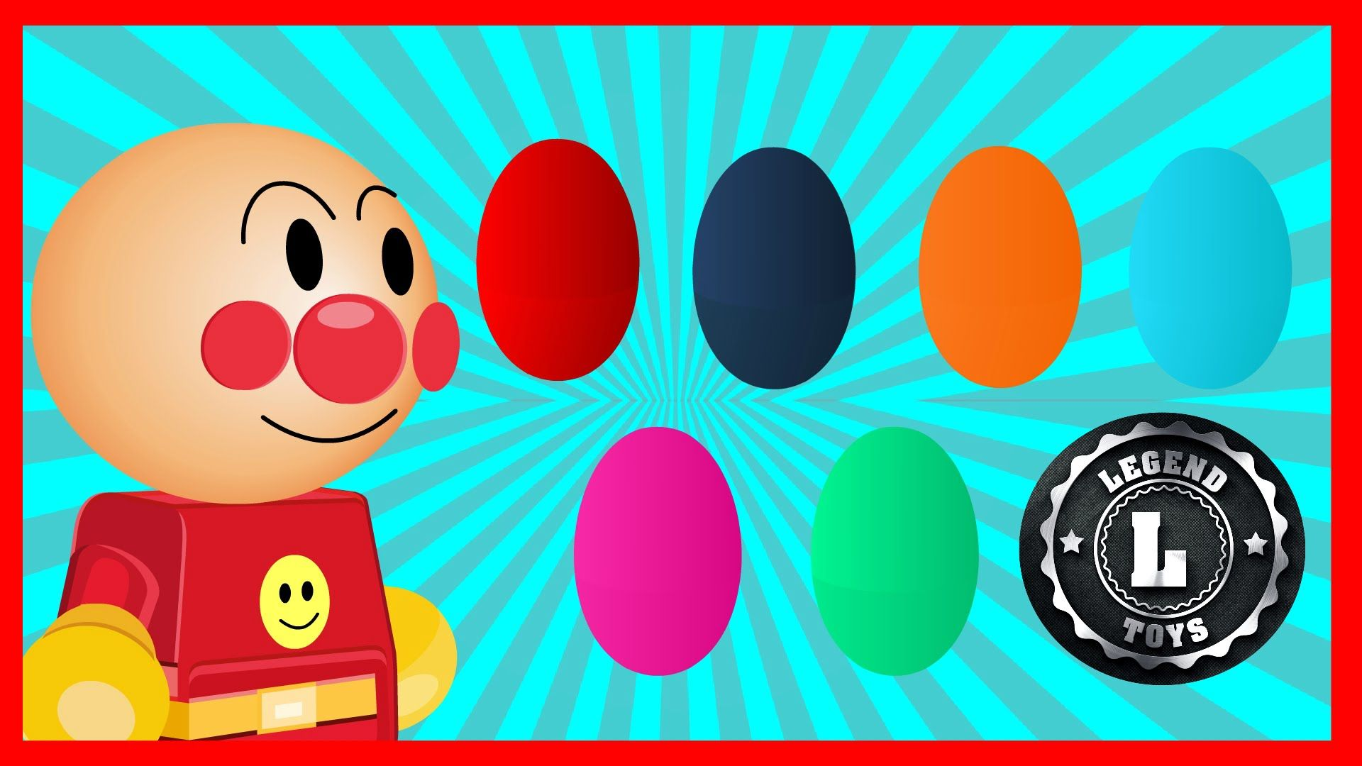 Anpanman Toys Anime Episode 63 Surprise eggs opening with