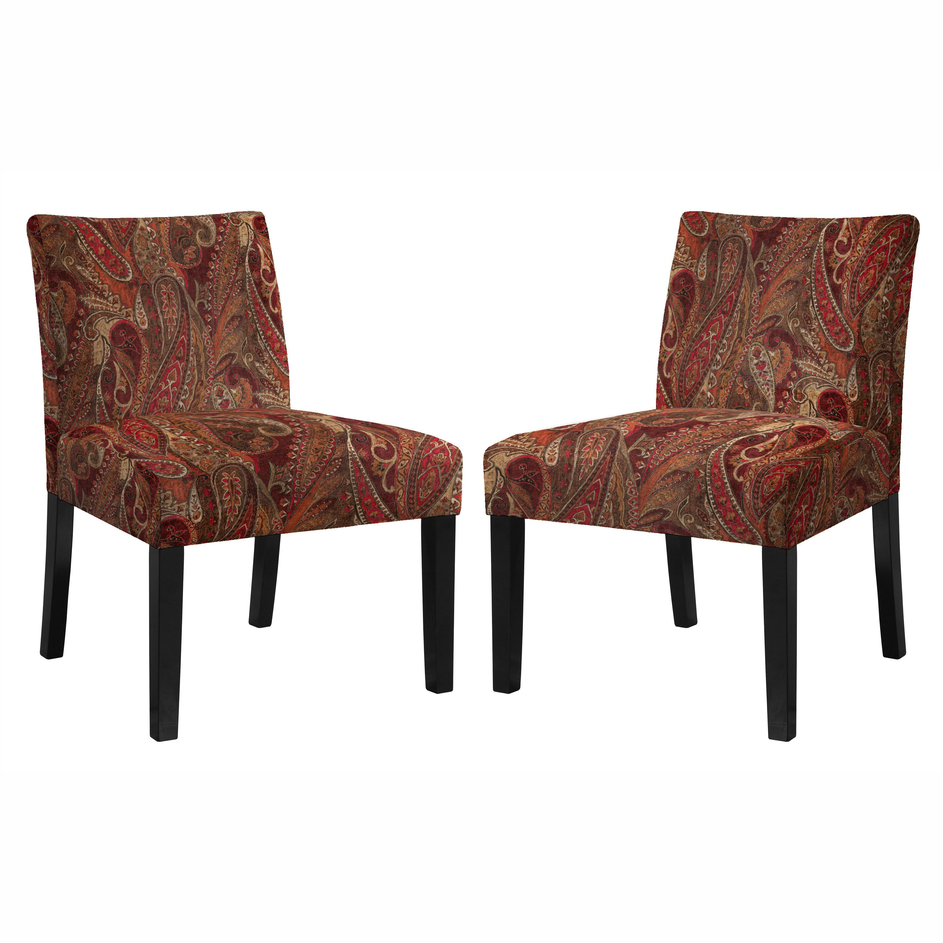 The angelo HOME Bradstreet set of 2 armless accent chairs were