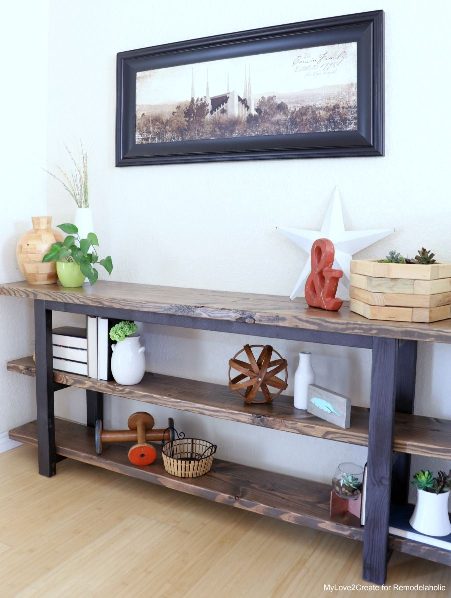 Diy Modern Rustic Console Table How To Make A Mylove2create
