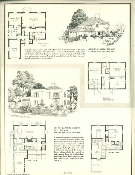 Designed For Concrete Portland Cement Association Free Download Borrow And Streaming Internet Archive Vintage House Plans Portland Cement Vintage House