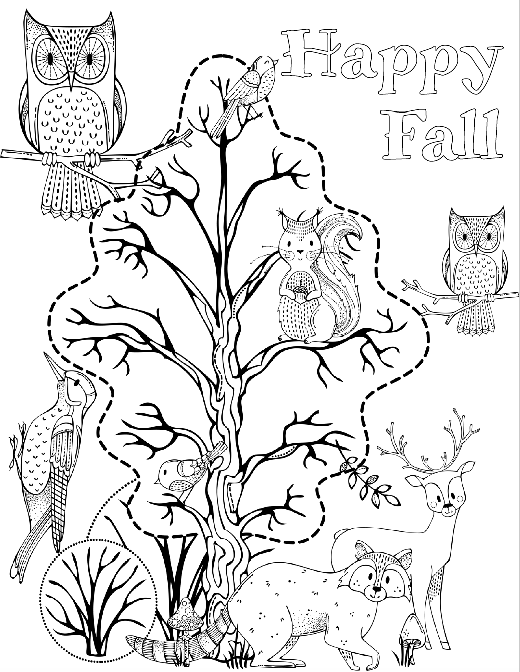 5 Free Printable Halloween Coloring Pages For Kids Halloween Coloring Pages Fall Coloring Pages Halloween Coloring