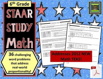 6th Grade STAAR Math: Proportionality Problem Solving--36 ...