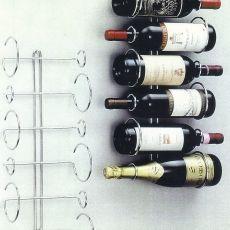 Portabottiglie da parete in ferro zincato wishlist - Porta vini da parete ...
