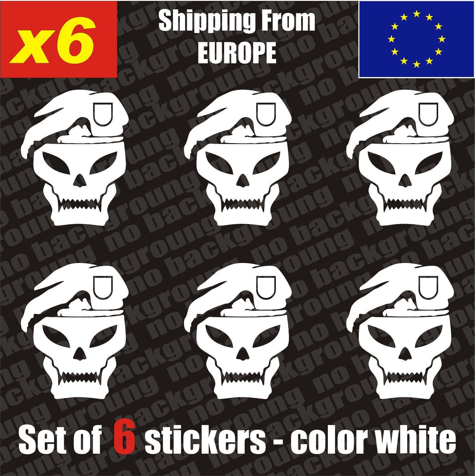 Set of 6 call of duty black ops logo vinyl sticker aufkleber die cut