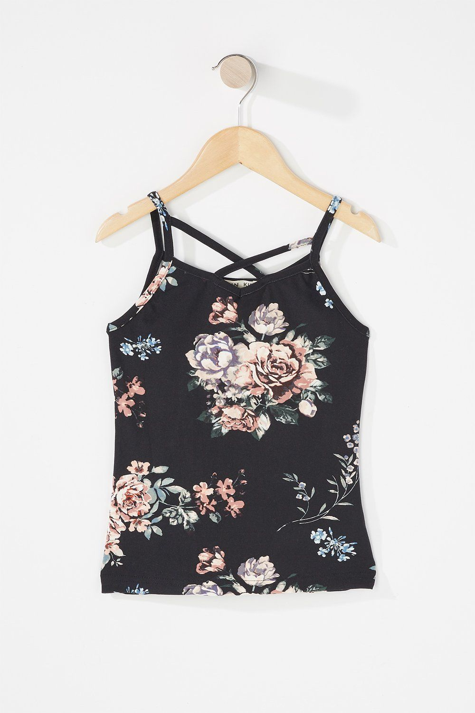 c303e3db Girls Floral Crisscross Tank – Urban Planet | Tween Fashion | Urban ...