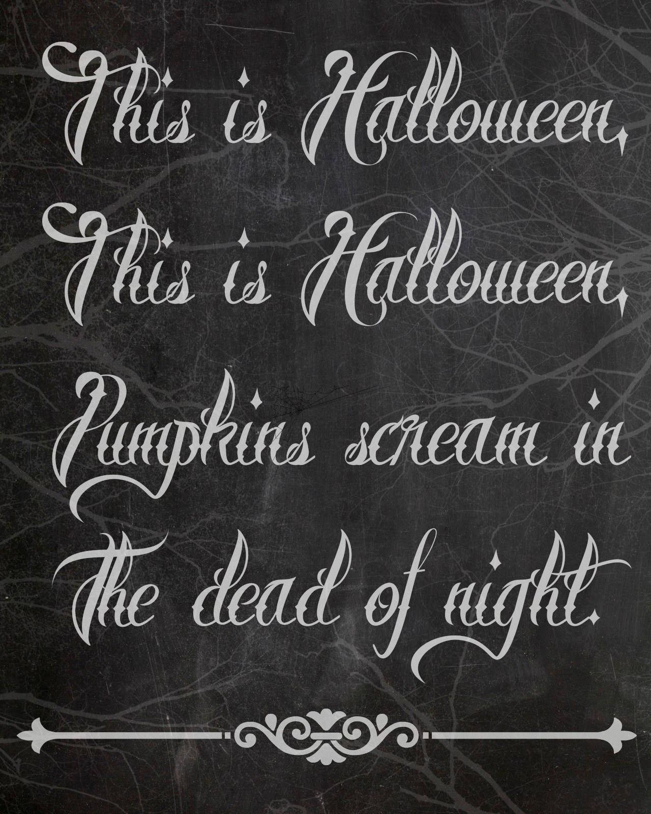 Free Halloween Chalkboard Printables Halloween