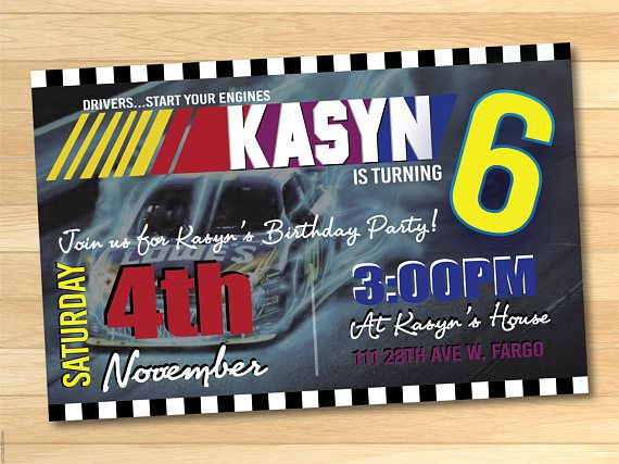 5x7 nascar birthday invitations vroomvroomvroooooom 5x7 nascar birthday invitations vroomvroom filmwisefo Choice Image