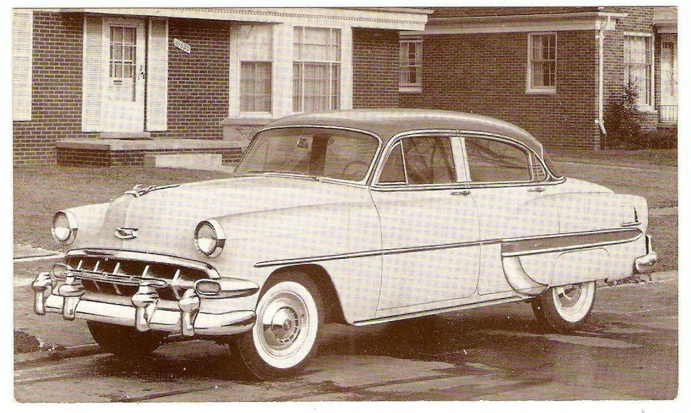 1954 Chevrolet Bel Air 4 Door Sedan Chevy Dealer Promotional Photo