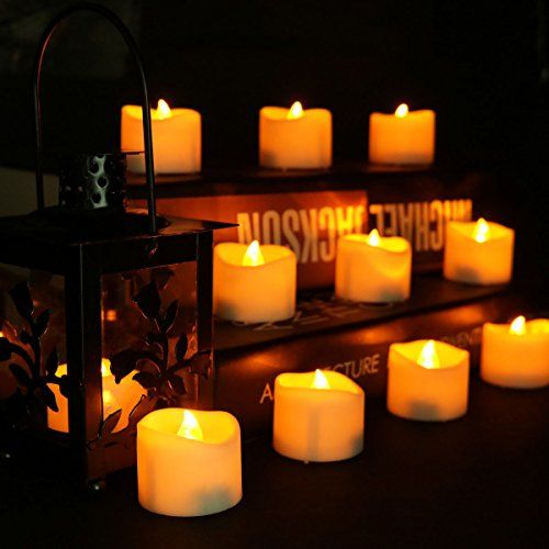 Flameless LED Long Candle Battery Operated Tea Light Flickering Party Home Decor