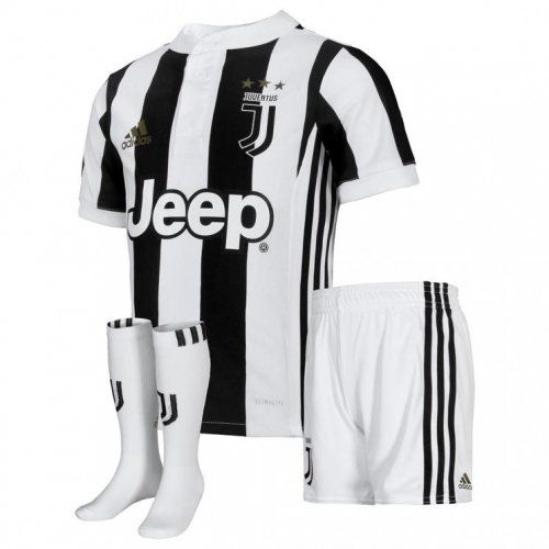uk availability 3c245 bd90b 2017-18 Juventus Home Kid Soccer Jersey Full Kit ...