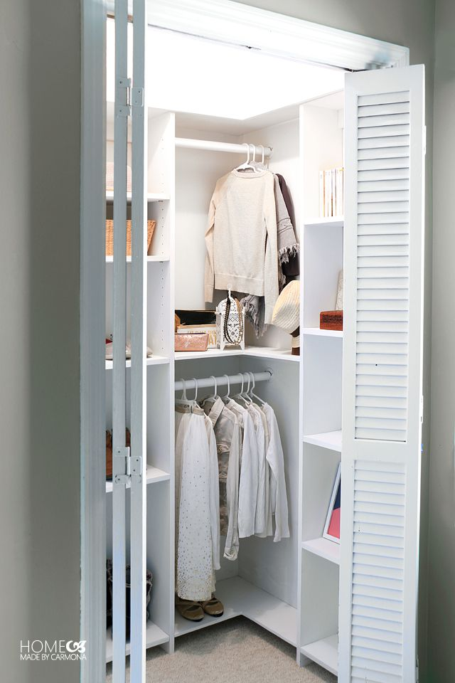 Superb Deep Closet Organization Ideas Part - 6: Learn How To Build A Stunning Custom Closet System That Doesnt Waste Any  Space! These Free Build Plans Are Perfect For Deep Closets That Are Not  Walk In.
