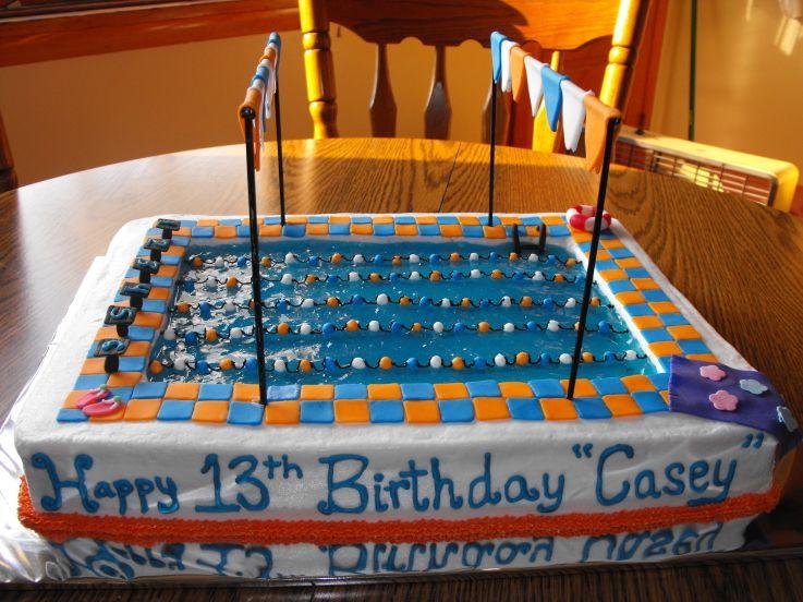 Swimming Pool Cake Designs Olympic Pool Birthday Cake Swim
